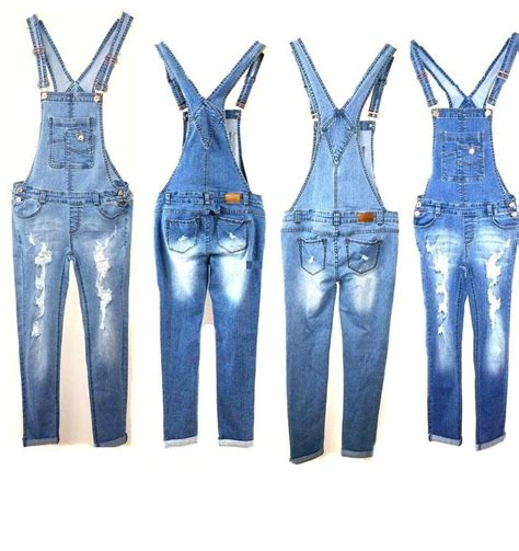 jean jumper new denim overall destroy