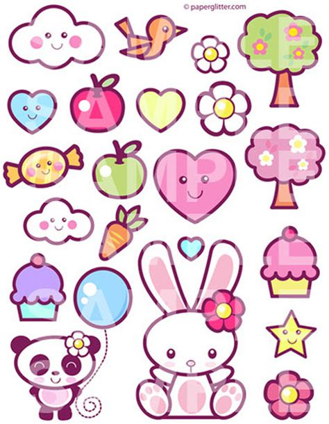 imagenes kawaii pdf kawaii printable digital collage sheet flickr photo