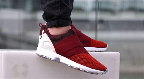Adidas Zx Flux Weave Collegiate Redblackwhite 1 adidas zx flux slip on burgundy kicks daily