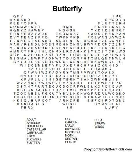 printable find a word games hard printable word searches for adults butterfly1 gif