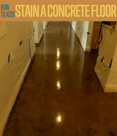 how to acid stain a concrete floor diy ready