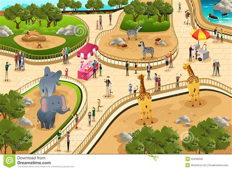 layout scene zoo clipart layout pencil and in color zoo clipart layout