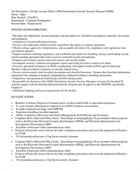 corporate physical security guard sle resume officer