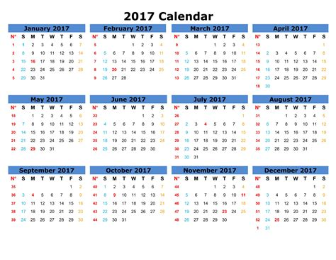 The Calendar For 2017 Webelations 2017 Free Printable Calendars