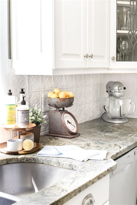 diy kitchen tile backsplash diy pressed tin kitchen backsplash bless er house