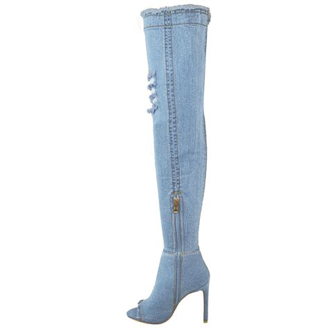 womens the knee boots thigh high heels