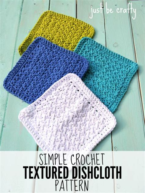 textured knitting pattern simple crochet textured dishcloth free pattern