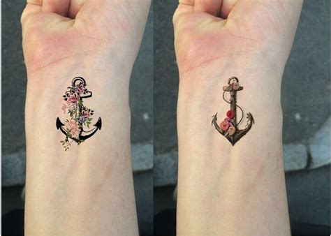 anchor tattoos wrist best 25 anchor flower tattoos ideas on anchor