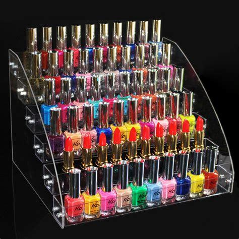 Tempat Kosmetik Lipstick Shelf Acrylic new promotion makeup cosmetic 6 tiers clear acrylic organizer mac lipstick jewelry display stand