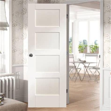 shaker white primed 4 panel bifold door shaker style