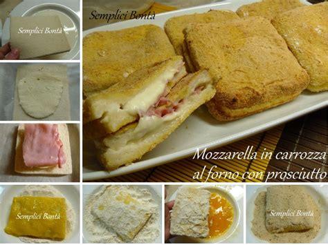 mozzarella in carrozza con prosciutto mozzarella in carrozza al forno con prosciutto semplici