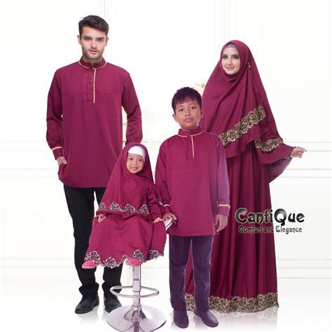 Jual Baju Gamis Keluarga Cq 1611 Sarimbit Keluarga Syar I Marun Gamispesta Net