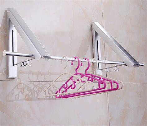 Folding Clothes Rack Wall Mounted by Wholesale And Retail Wall Mounted Aluminum Folding