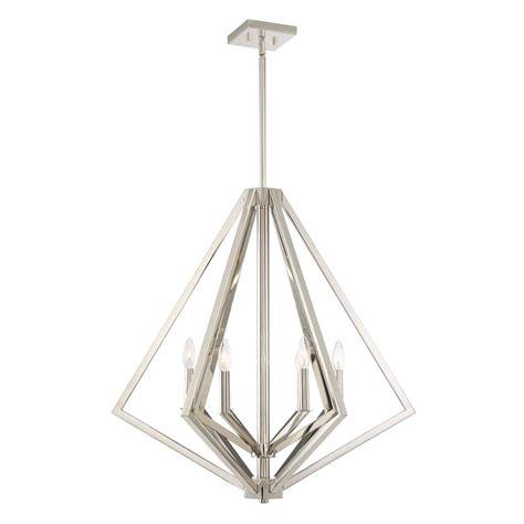 polished nickel chandeliers filament design 6 light polished nickel chandelier cli