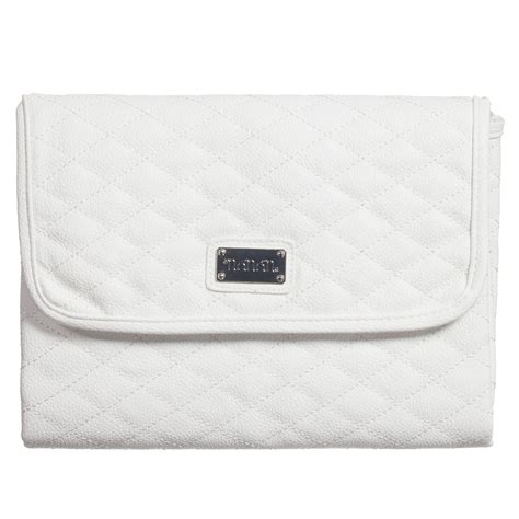 White Baby Changing Mat by Nan 225 N White Quilted Baby Changing Mat 74cm Childrensalon