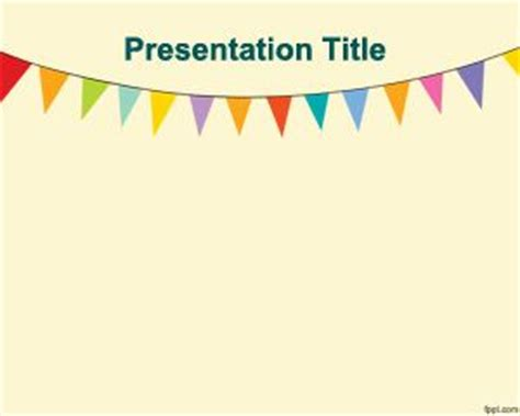 free preschool powerpoint templates pennants powerpoint template