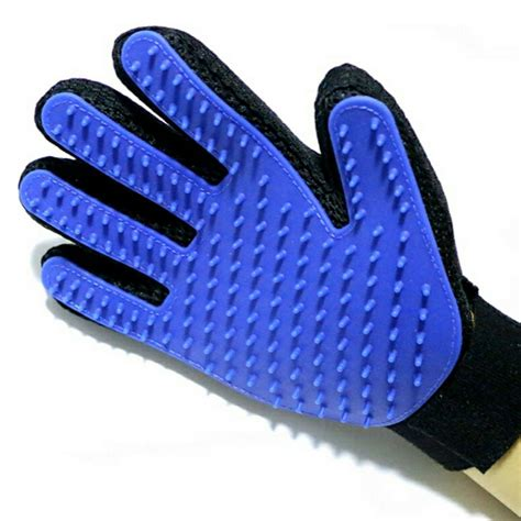 grooming glove pet grooming glove petsinc real touch cat deshedding hair remover brush for
