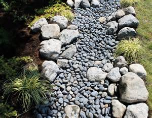 Different Types Of Vases Water And Stone Dry Riverbed Garden Traditional