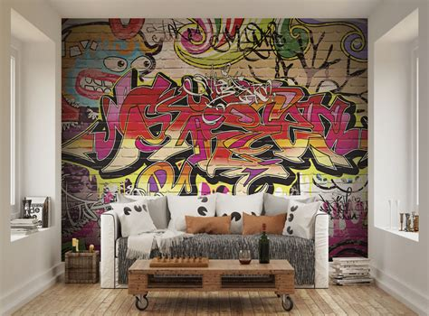 graffiti wallpaper living room city graffiti wallpaper mural ohpopsi