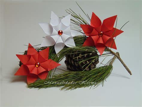 como hacer flores de papel para navidad diy flor de pascua de papel origami manualidades and