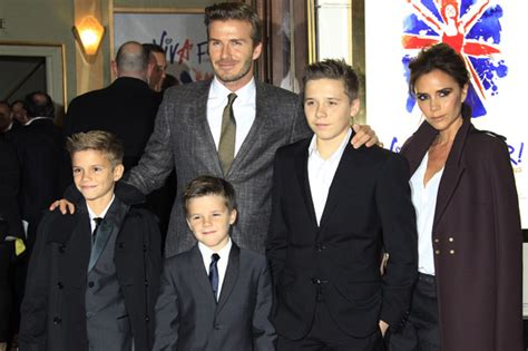 The Beckhams Are by Beckham Babies And David S Four Children Look