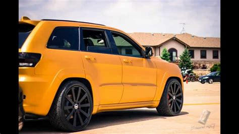gold jeep grand 2014 gold 2014 srt jeep on 24 quot forgiato