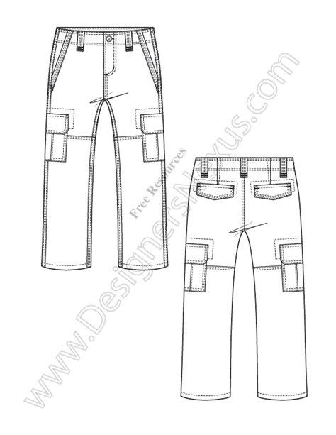jeans pattern for illustrator v35 kids cargo pants fashion flat sketch free download