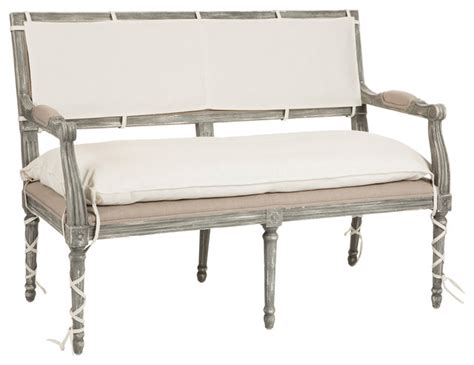 french bench seat liam french country wrapped leg two seat bench