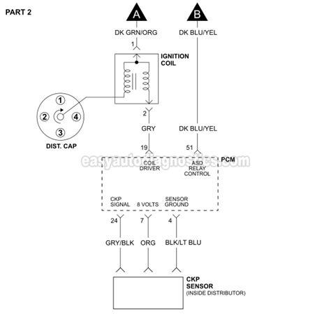 1993 1995 2 5l Dodge Dakota Ignition System Wiring Diagram