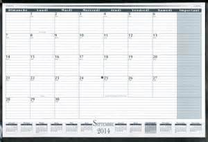 livre calendrier de bureau mensuel acad 233 mique 2014 2015