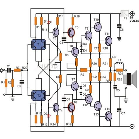 transistor guitar lifier circuit 100w transistor power lifier schematic learn how to build it