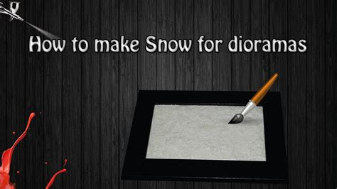how to make space how to make snow for dioramas youtube