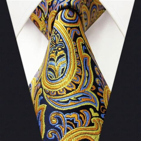 Dasi Purple Tie u13 paisley orange blue navy mens necktie ties 100 silk