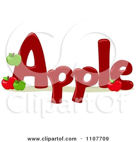 5 Letter Words Vector clipart the word apple for letter a royalty free vector