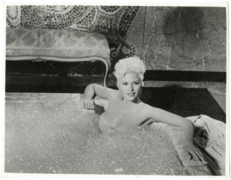 jayne mansfield 1957 pin up photograph in bathtub will