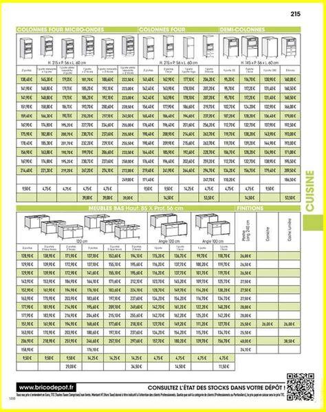 tarif cuisine brico depot cheap tarif meuble de cuisine brico depot conception de