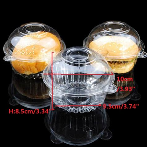 100pcs 7x7cm mini clear cupcake muffin cookie food box holder container 100pcs clear