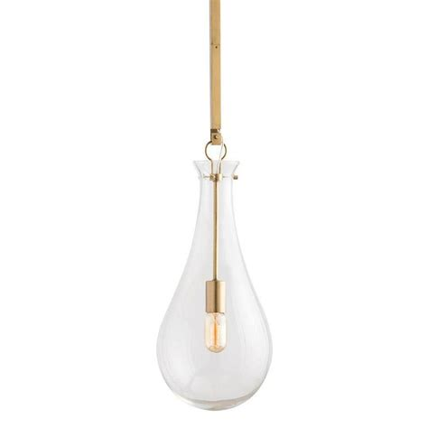 teardrop glass pendant light glass teardrop brass pendant