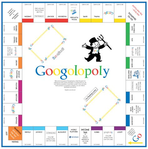 best printable board games download and print google monopoly board game googolopoly