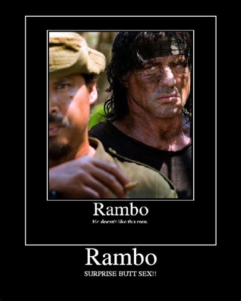 Rambo Meme - image 11584 surprise buttsecks know your meme
