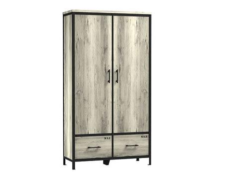 armoire loft armoire 2 portes 2 tiroirs loft coloris ch 234 ne