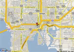 johnson florida map map of howard johnson plaza ta