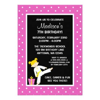 Karate Birthday Card Template by Tae Kwon Do Cards Zazzle
