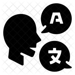 language icon  glyph style   svg png eps