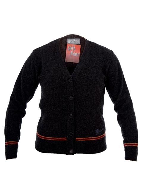 Sweter Harry Potter hogwarts gryffindor house sweater gray cardigan sweater