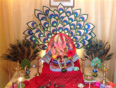 ganpati decoration ideas  home pooja room decoration