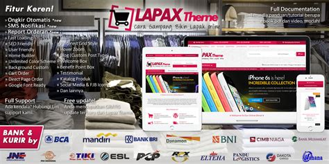 template toko online indonesia wordpress gratis lapax theme template toko online wordpress indonesia