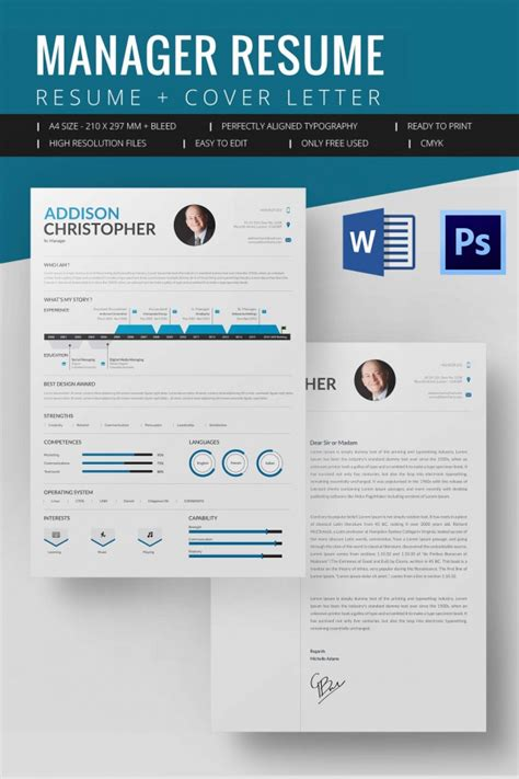 Resume Template Manager Word Microsoft Word Resume Template 99 Free Sles