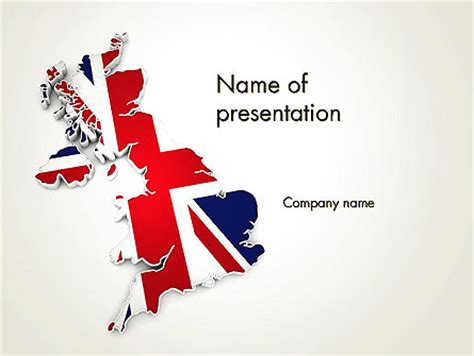 Great Britain Flag Map Powerpoint Template Backgrounds 12280 Poweredtemplate Com Microsoft Powerpoint Templates Uk