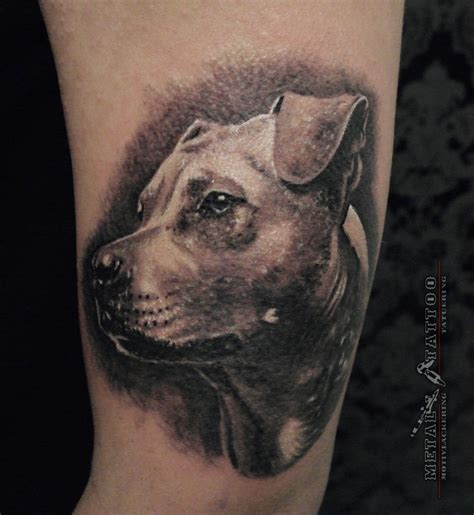 dog portrait tattoo ramunas jasiulis certified artist